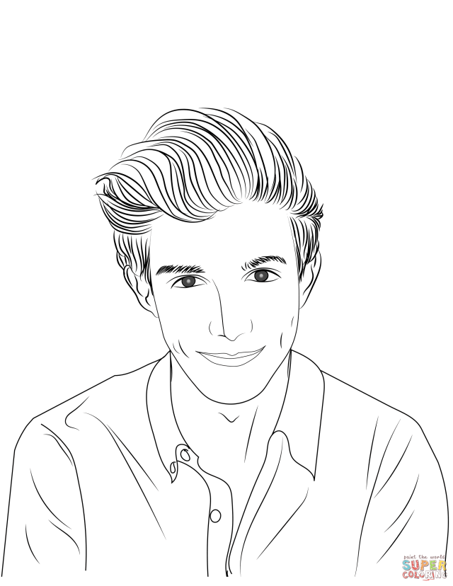 Young Man coloring page  Free Printable Coloring Pages
