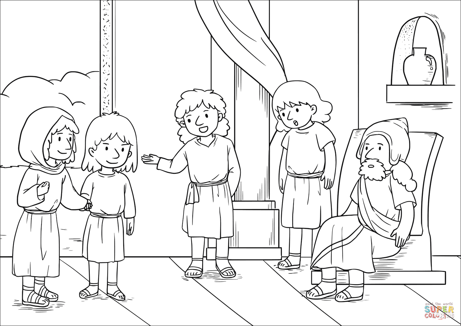 Coloring Page Elishas Room Coloring Pages