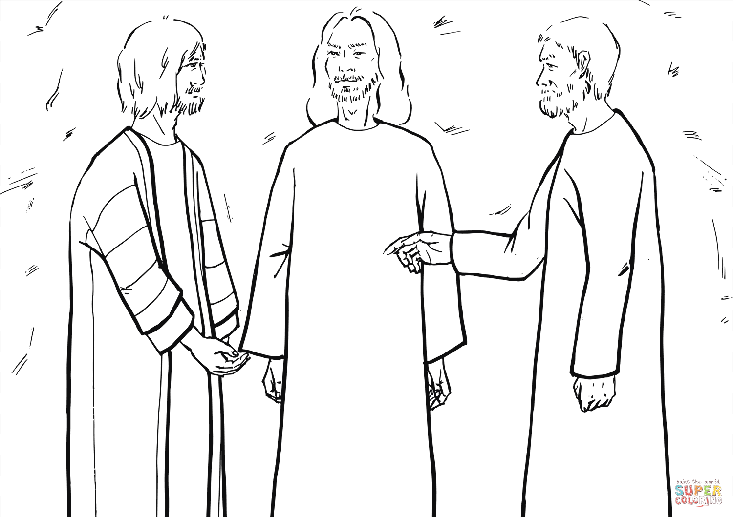 The Disciples Asked Jesus Why Elijah Must Come First Coloring Page