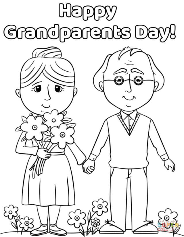 Happy grandparents day printable coloring pages