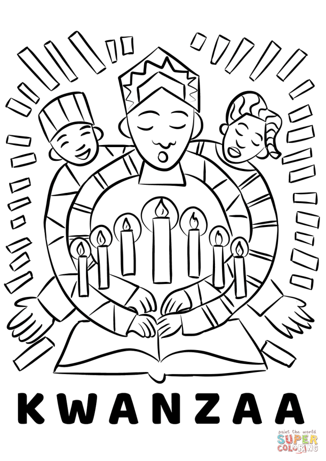 Kwanzaa coloring page  Free Printable Coloring Pages