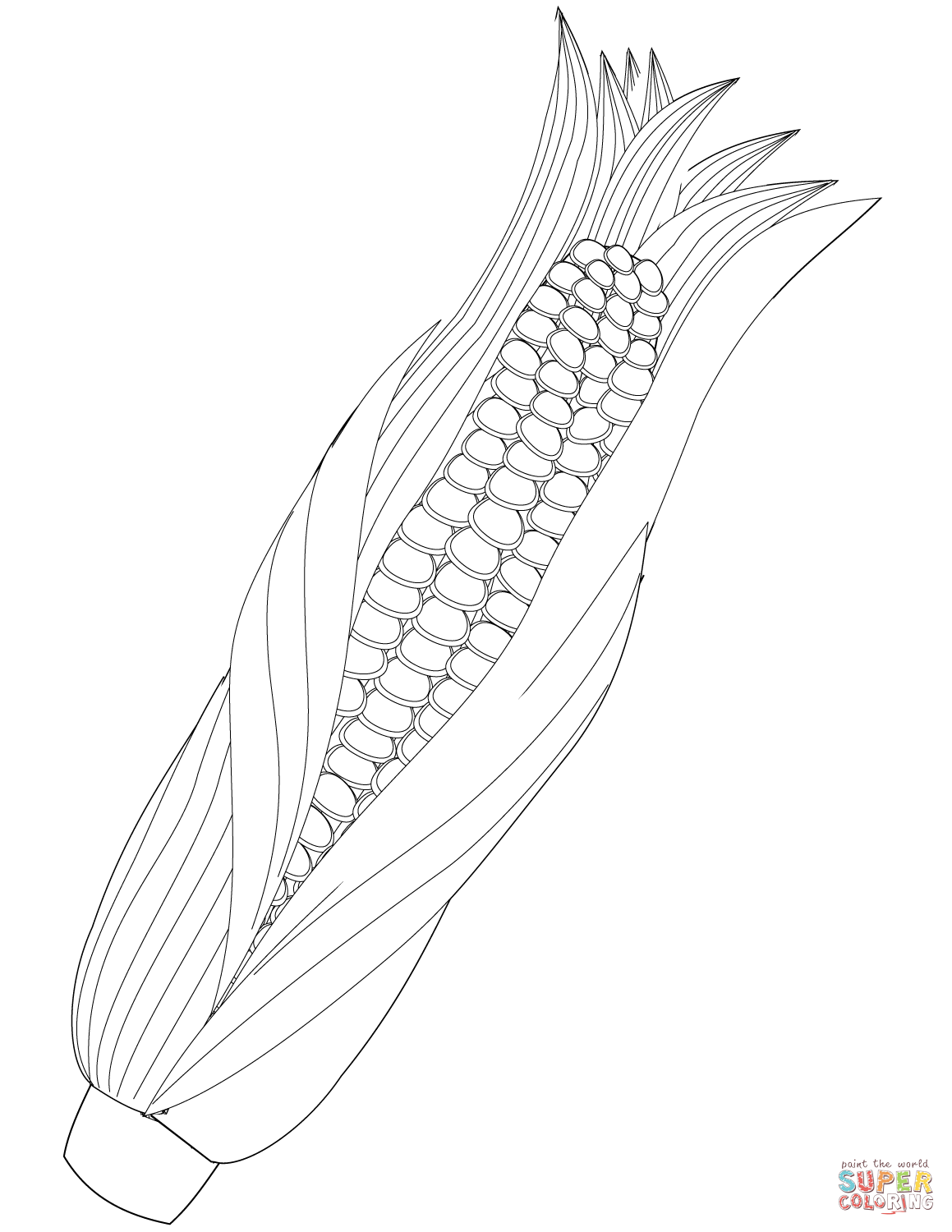 Maize Ear Coloring Page