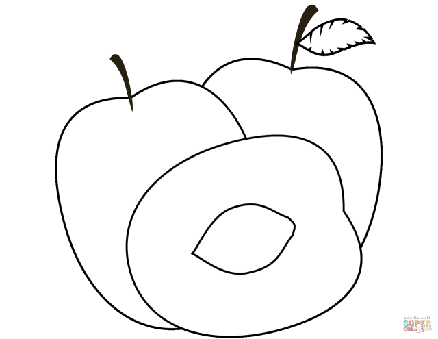 Plums coloring page  Free Printable Coloring Pages