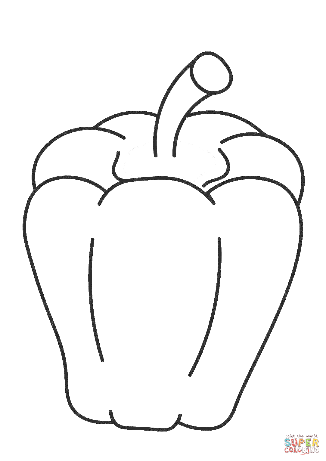 Sweet Pepper Coloring Page