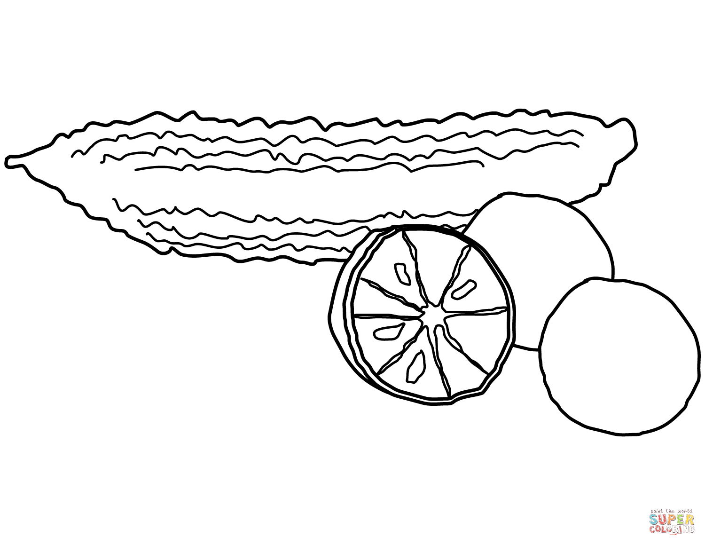 Ausmalbild Bittermelone