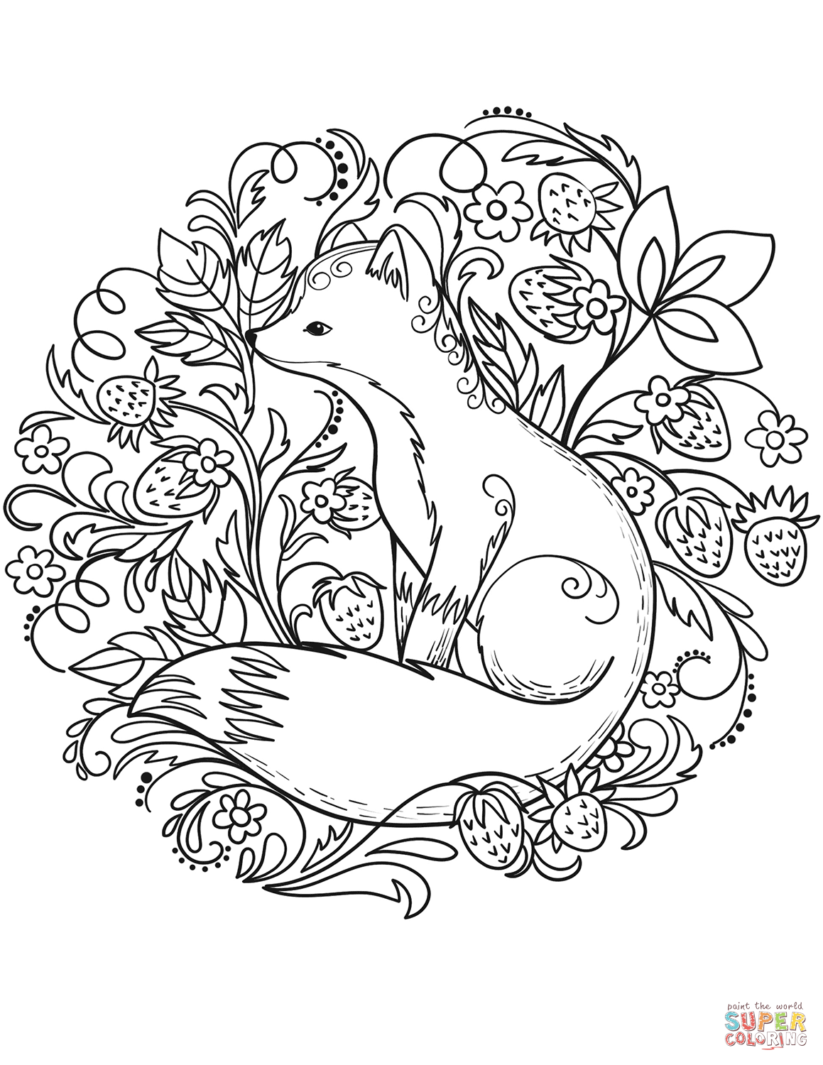 Fox Coloring Page