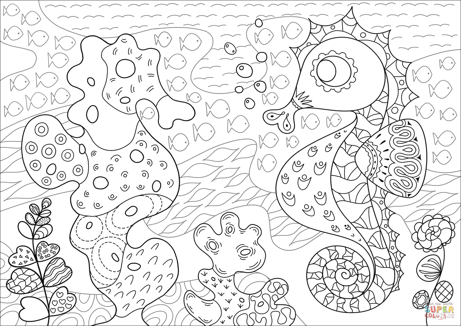 Gambar Lionfish In Coral Reef Coloring Page Free Printable Jpeg Png ...