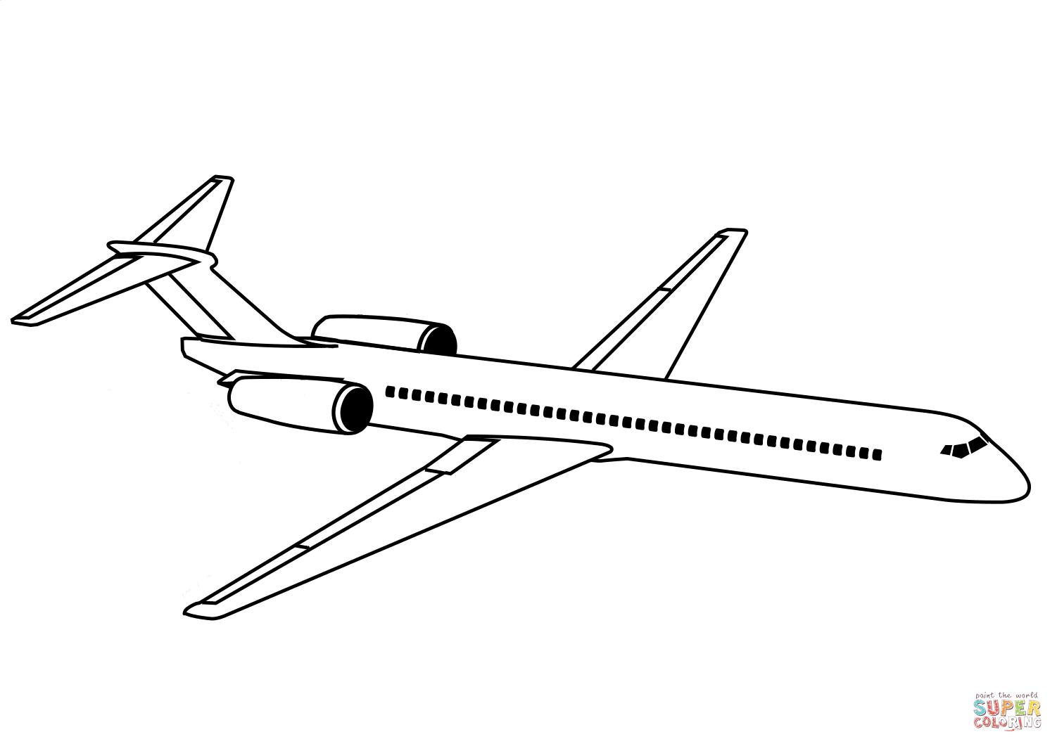 Kolorowanka Airliner