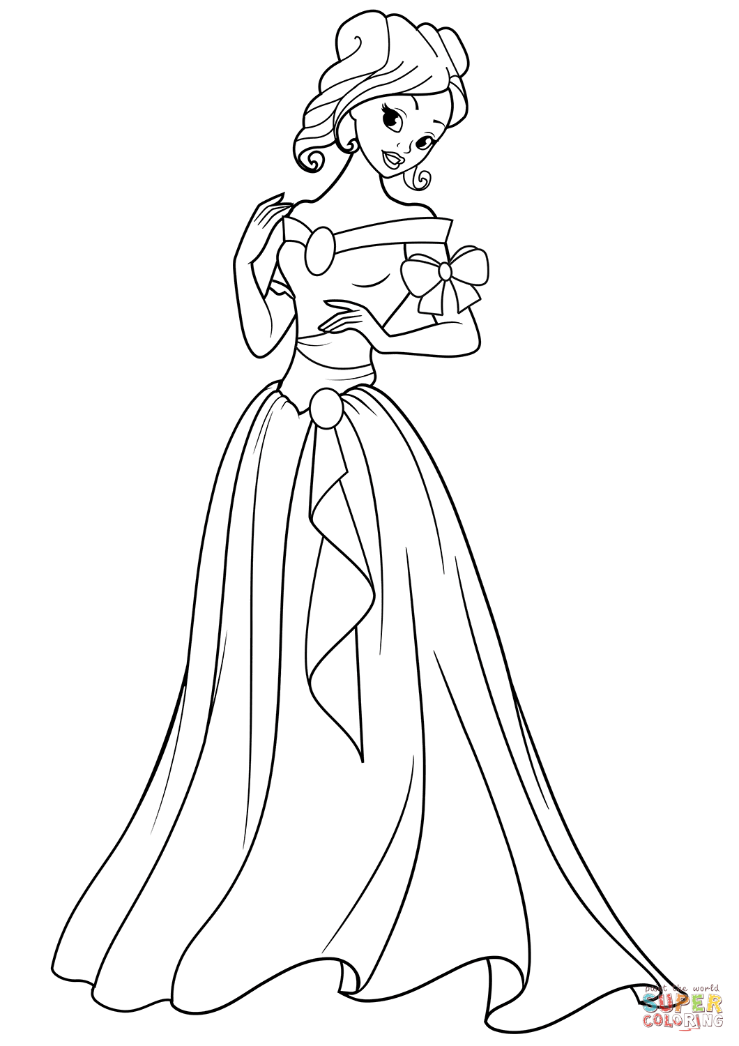 Beautiful Princess Coloring Page