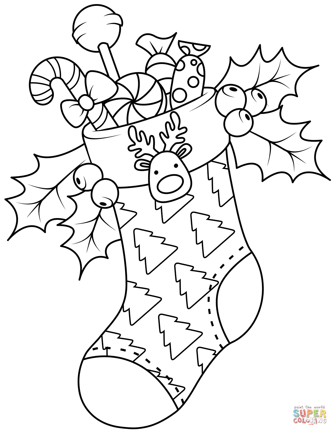 Christmas Stockings Coloring Pages Free Coloring Pages