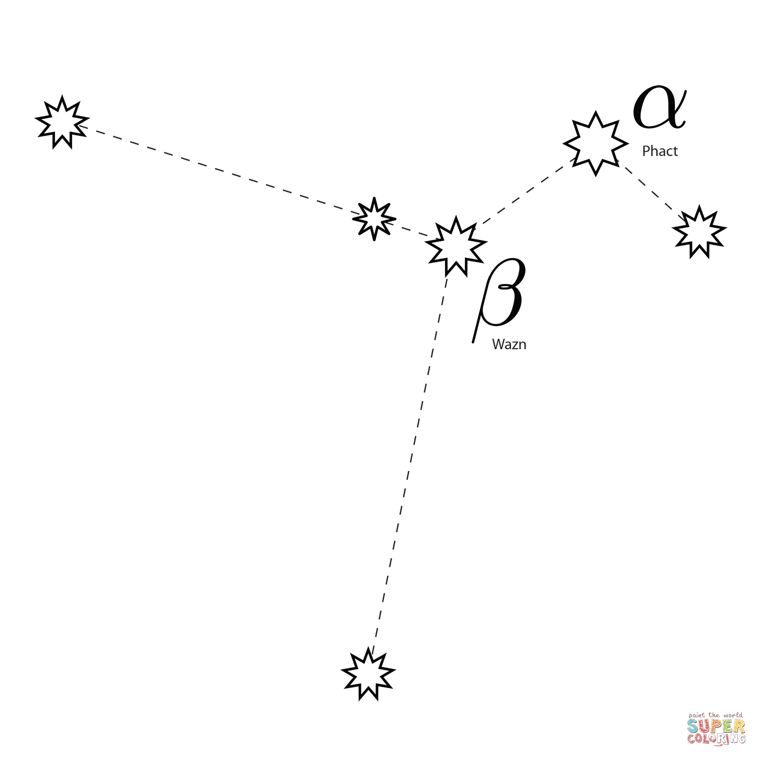 Columba Constellation Coloring Page