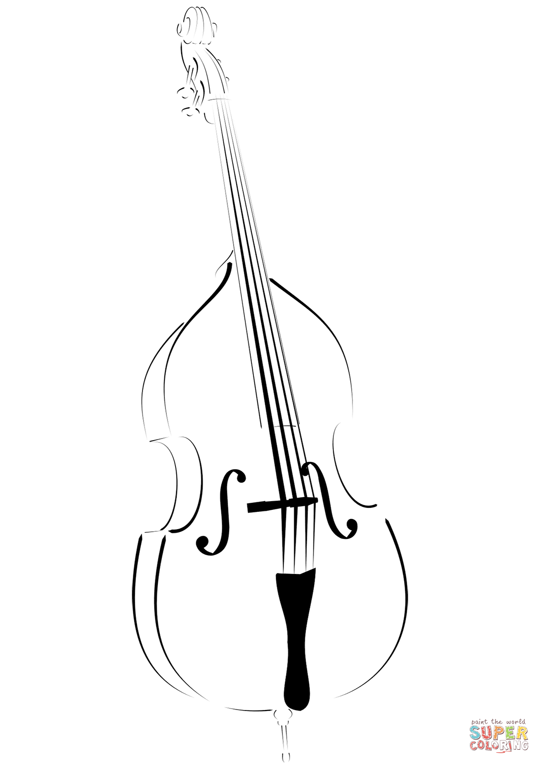 Double Bass Coloring Page