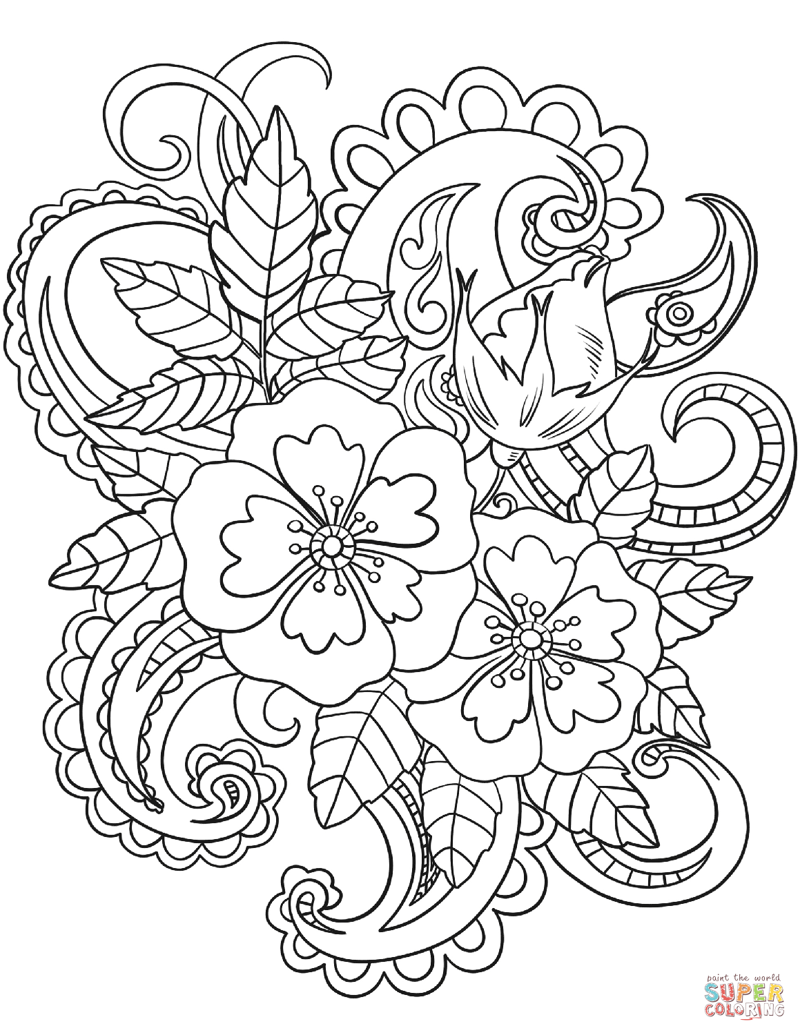 Simple Rainbow Coloring Page