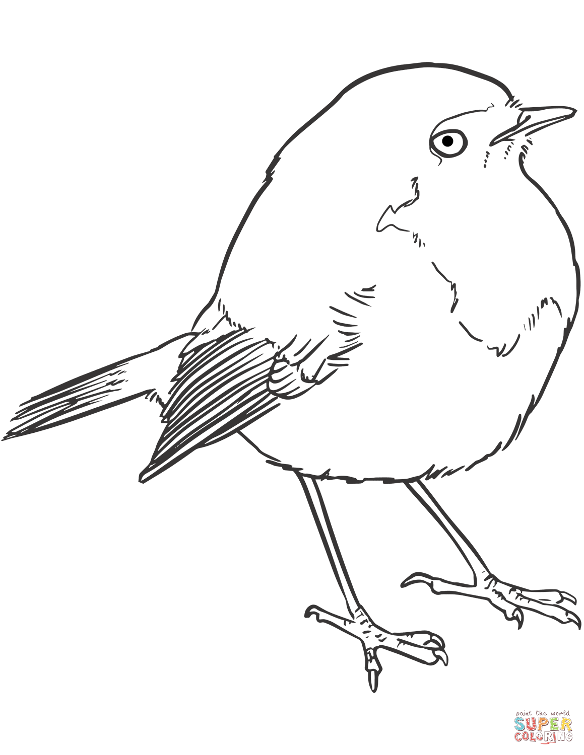 Goldcrest Coloring Page