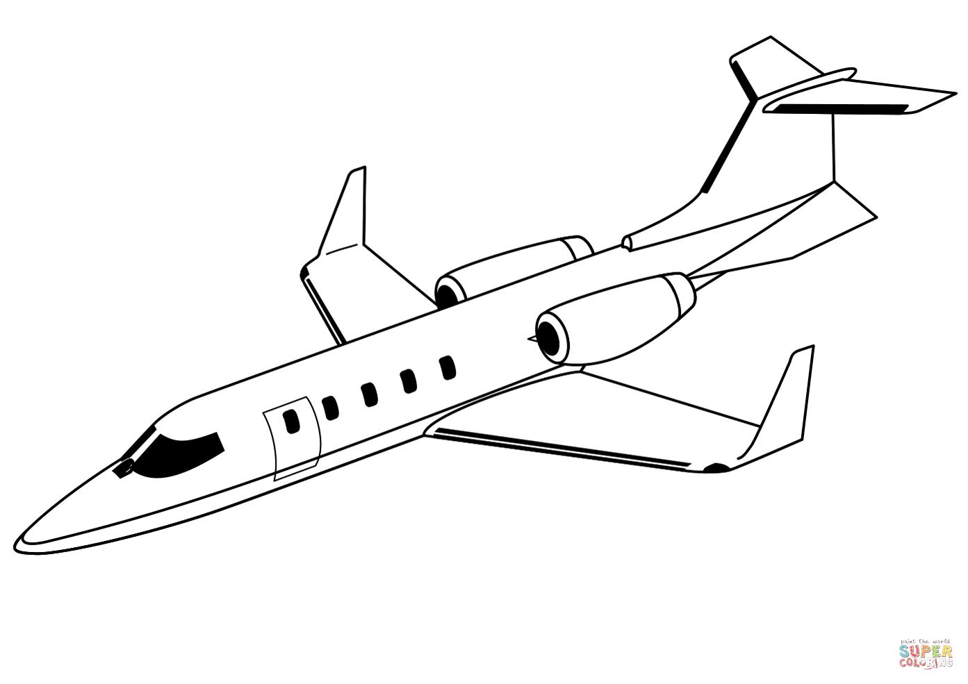 Dibujo De Avion Gulfstream Para Colorear