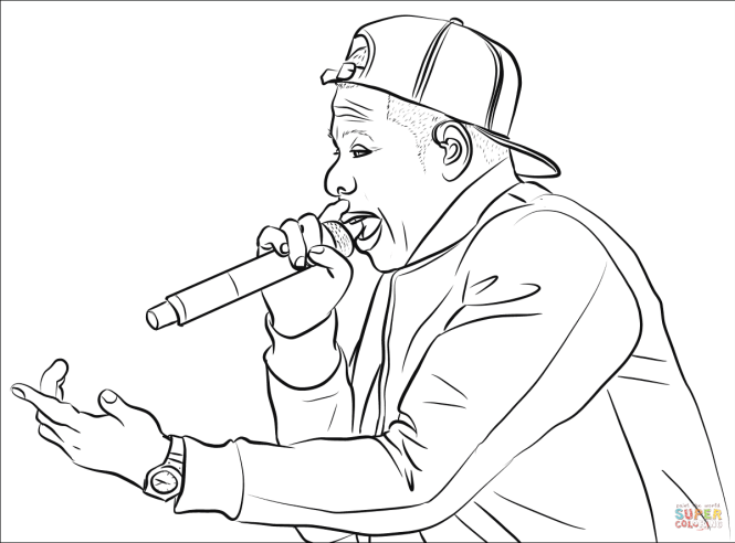 Click The Jay Z Coloring Pages To View Printable Version Or Color It Online Compatible With Ipad And Android Tablets