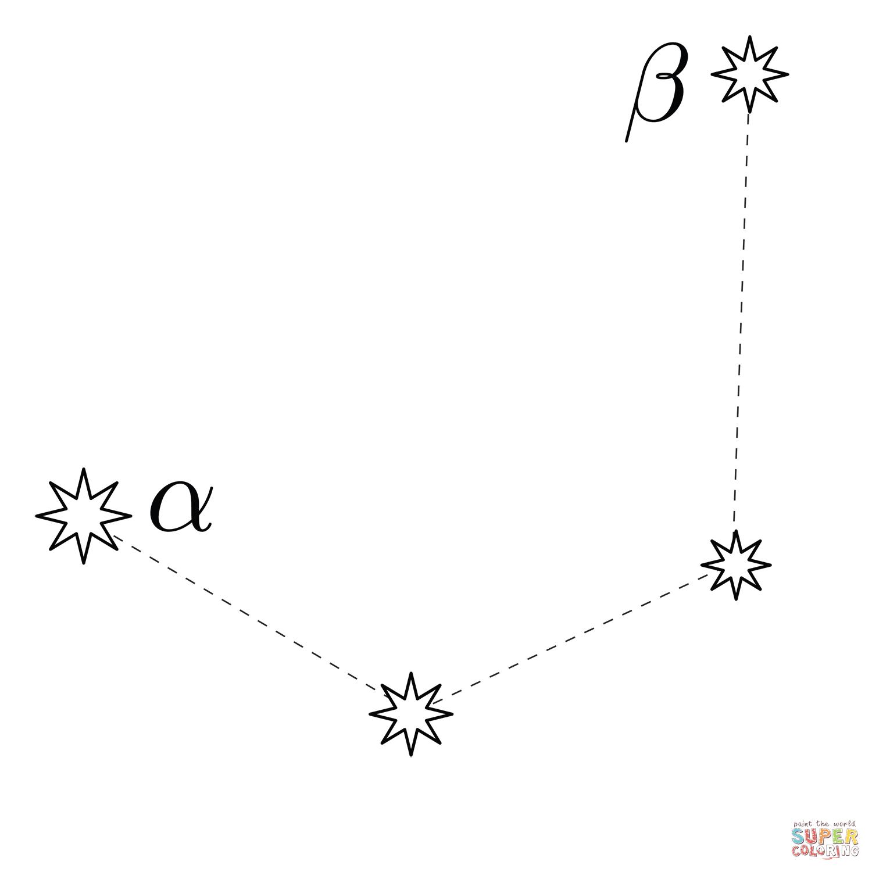 Mensa Constellation Coloring Page