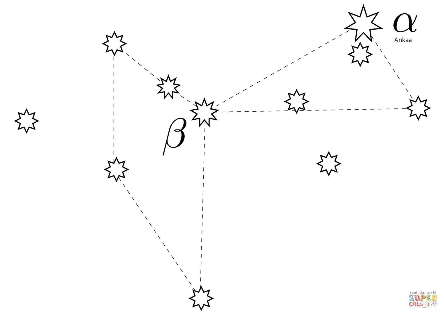 Phoenix Constellation Coloring Page
