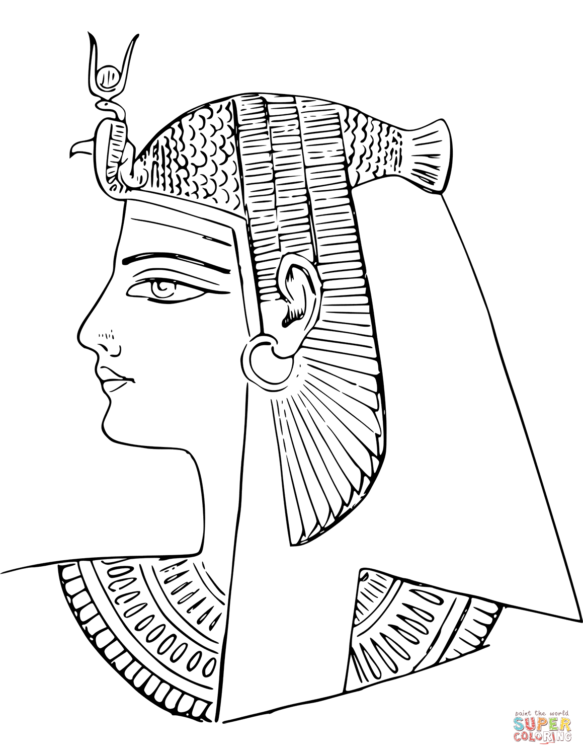 Coloring Egyptian Page Ancient Egypt Sketch Coloring Page