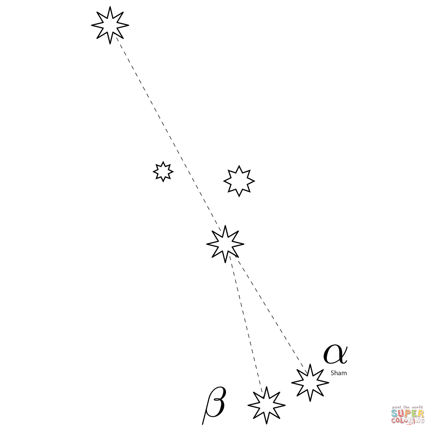 Sagitta Constellation Coloring Page