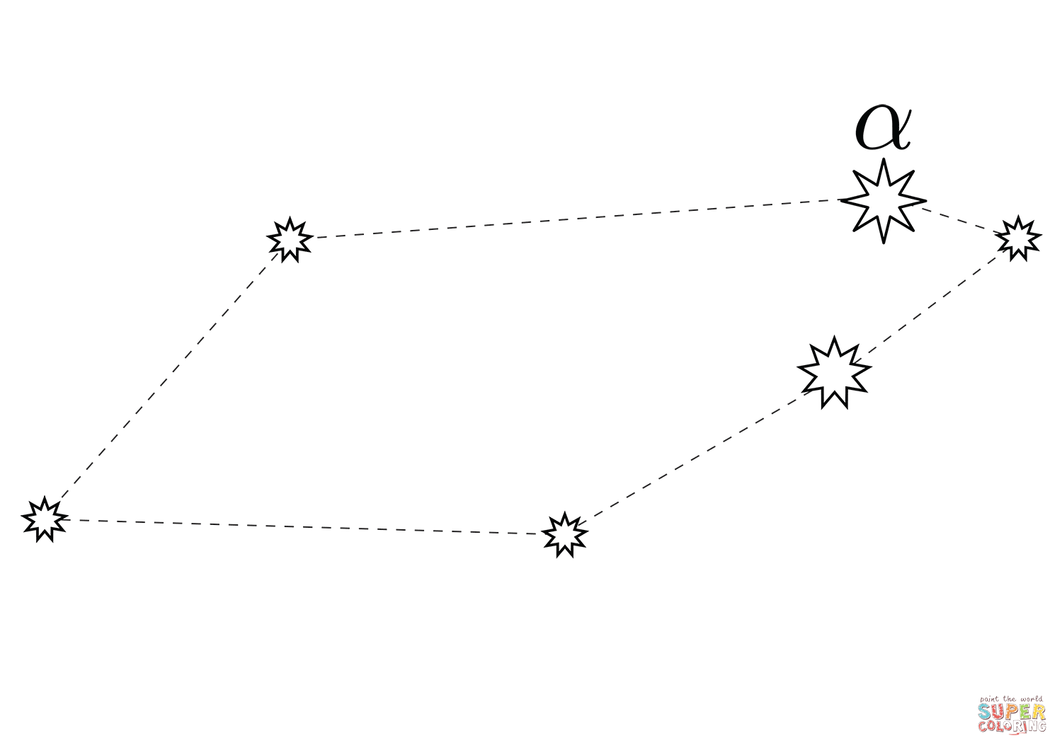 Telescopium Constellation Coloring Page