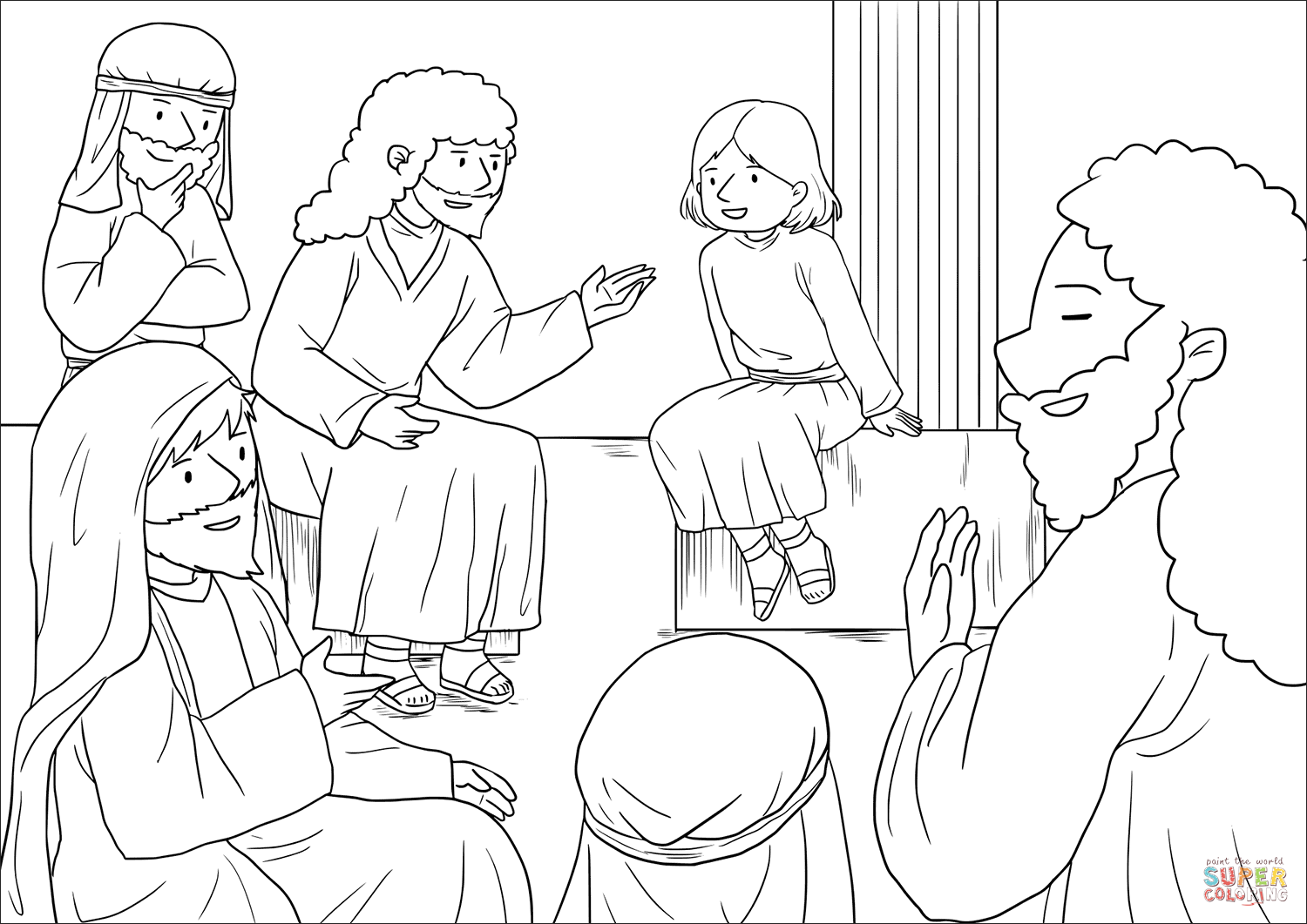 The Boy Jesus At The Temple Luke 2 40 52 Coloring Page Free