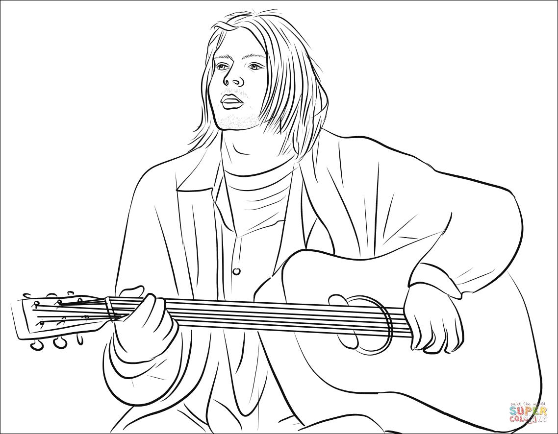 Kurt Cobain Coloring Page