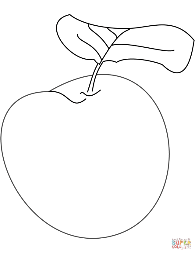 Plum coloring page  Free Printable Coloring Pages