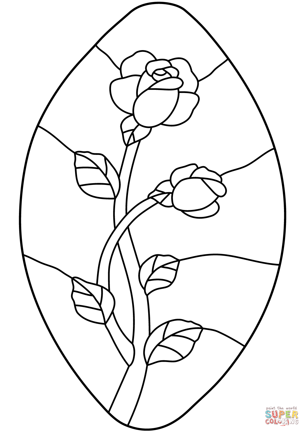 Free Printable Stained Glass Patterns Sketch Coloring Page