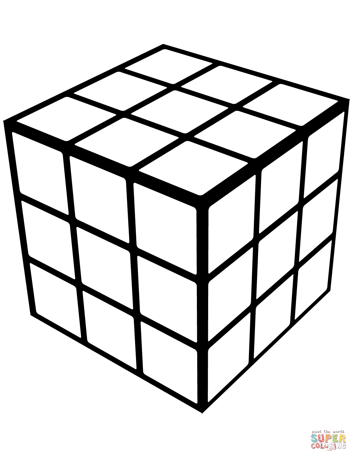 Rubik S Cube Coloring Page