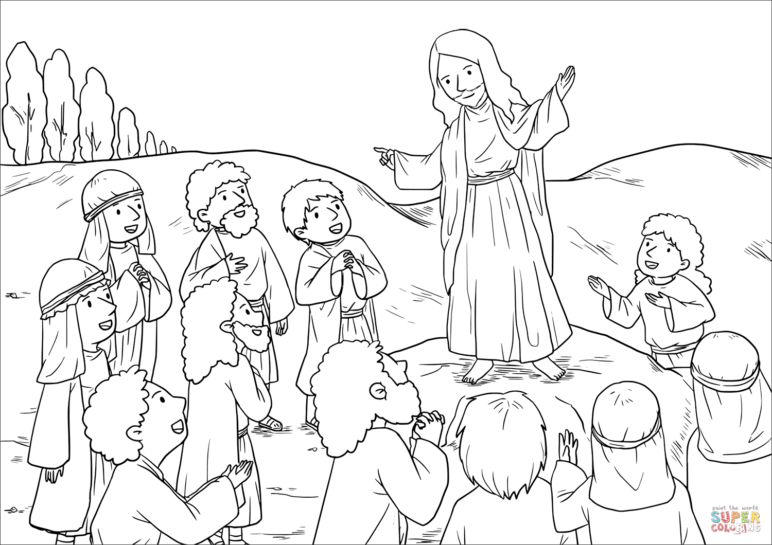 The Great Commission Matthew 28 16 20 Coloring Page