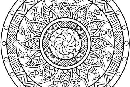 Coloring Free Mandala Difficult Adult To Print