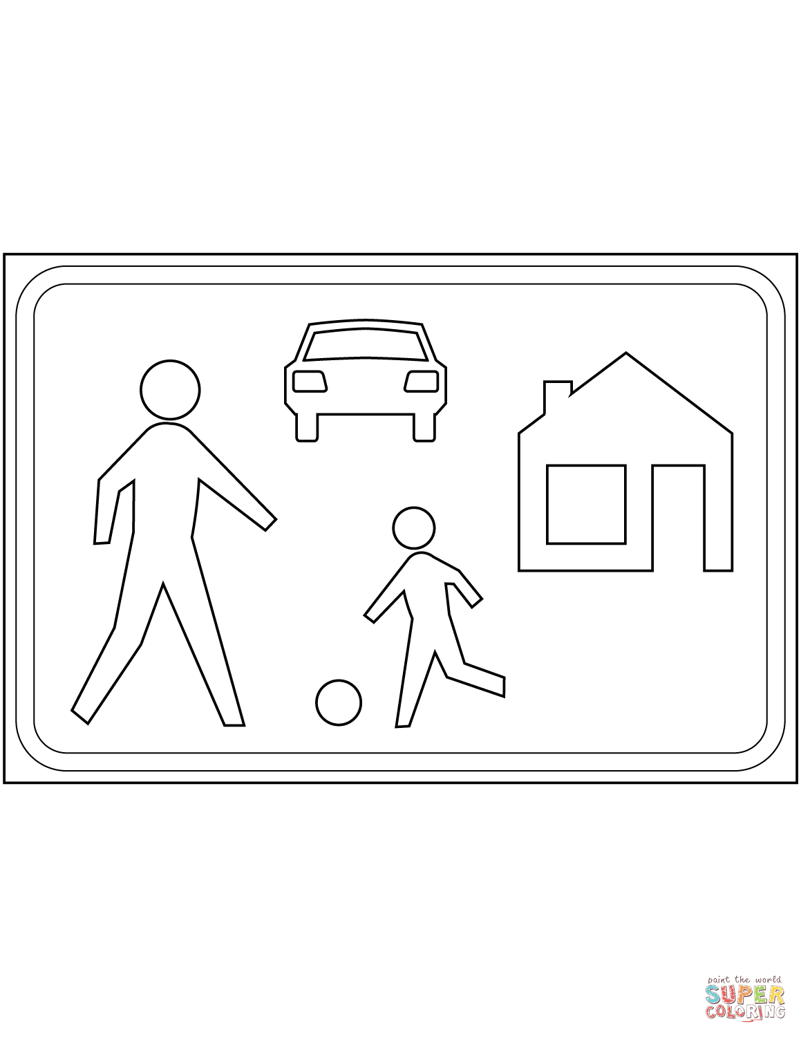Living Street Sign In The Netherlands Coloring Page