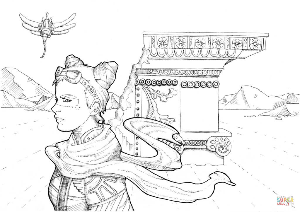 Steampunk Apocalypse Coloring Page Free Printable