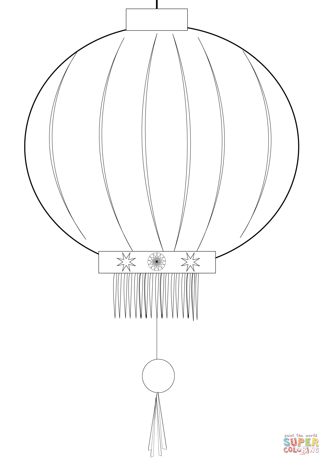 Chinese Lantern Coloring Page