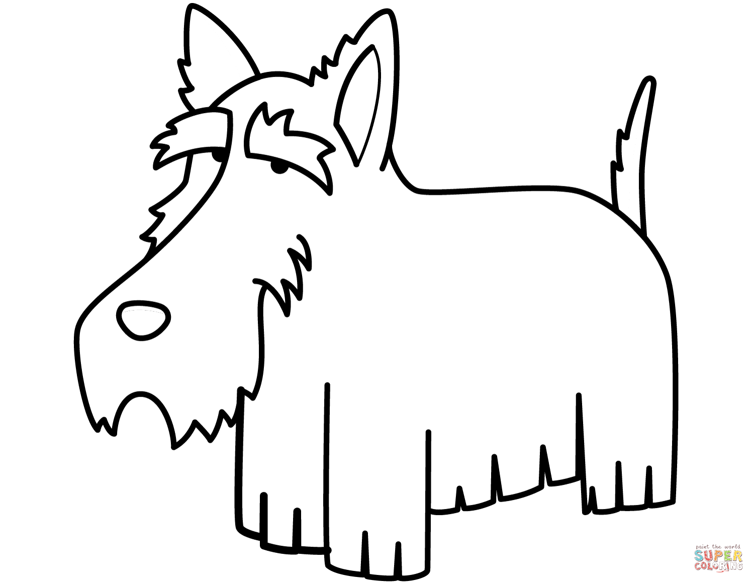 Funny Schnauzer Coloring Page