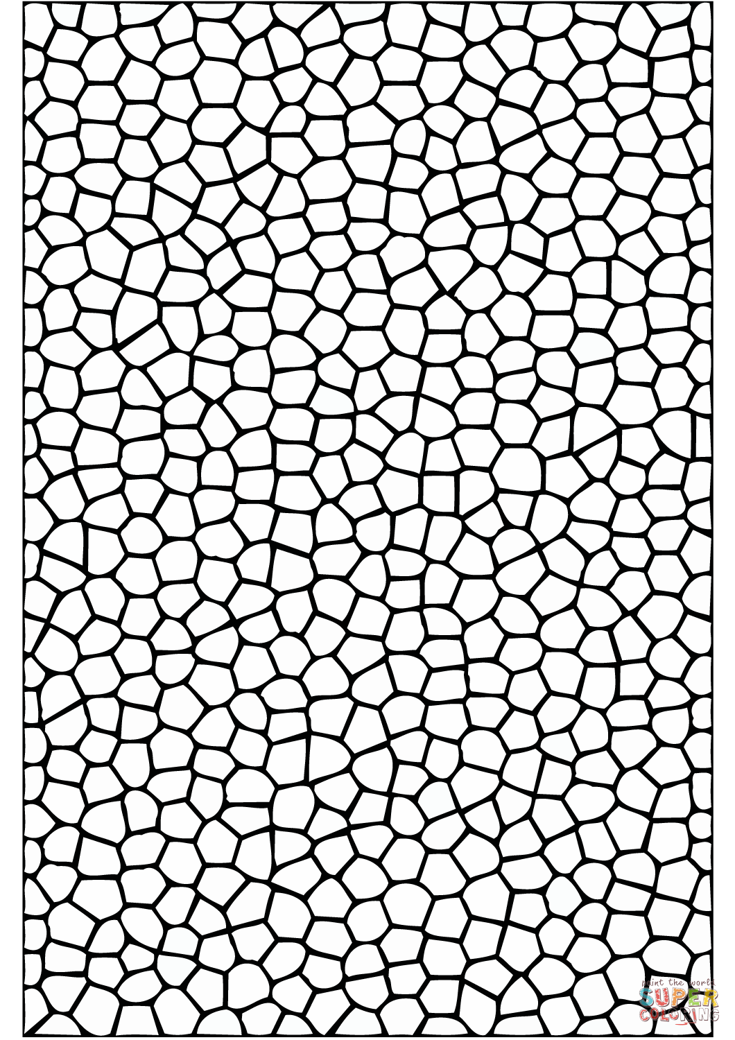 Mosaic Tiles Pattern Coloring Page
