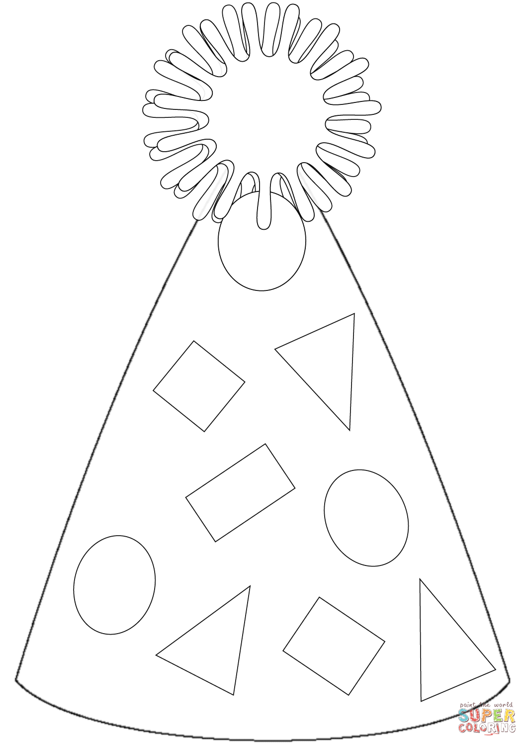 Party Hat Coloring Page
