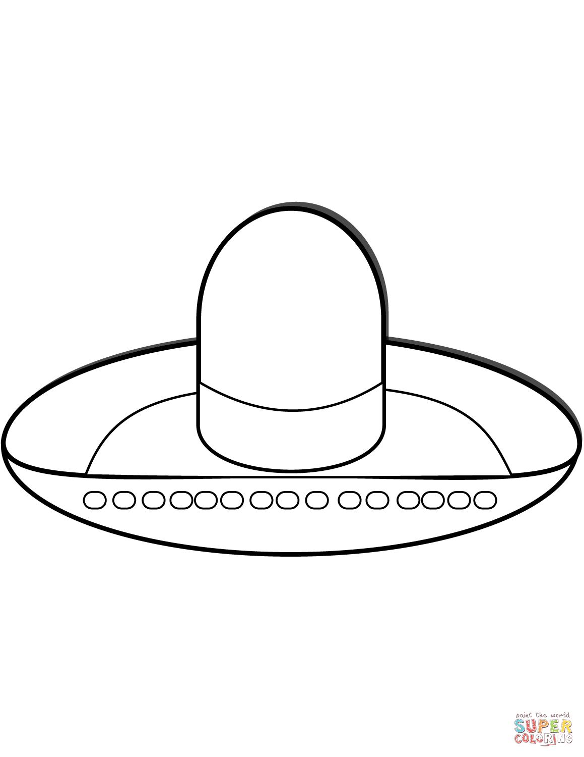 Coloring Worksheet Of Pilgrim Hat