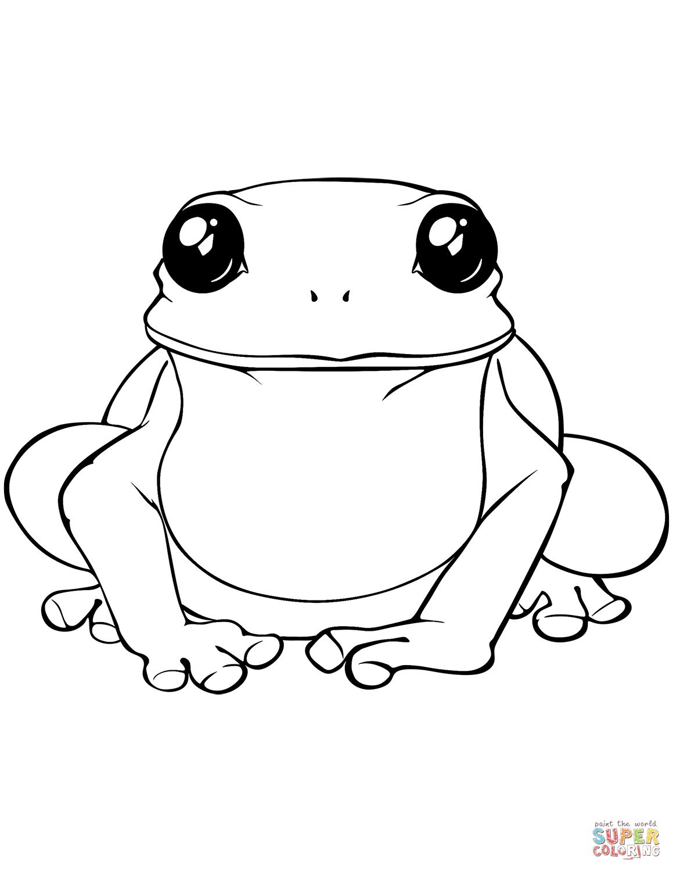Ausmalbild Gro Er Frosch