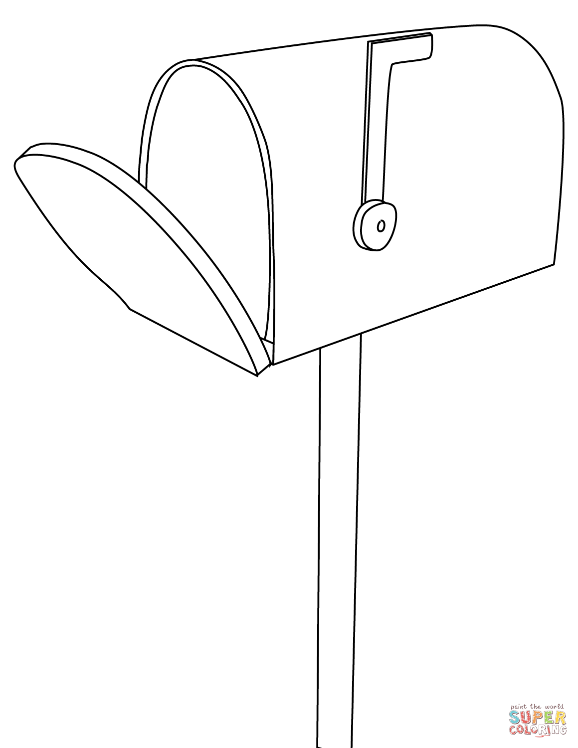 Mailbox Coloring Page
