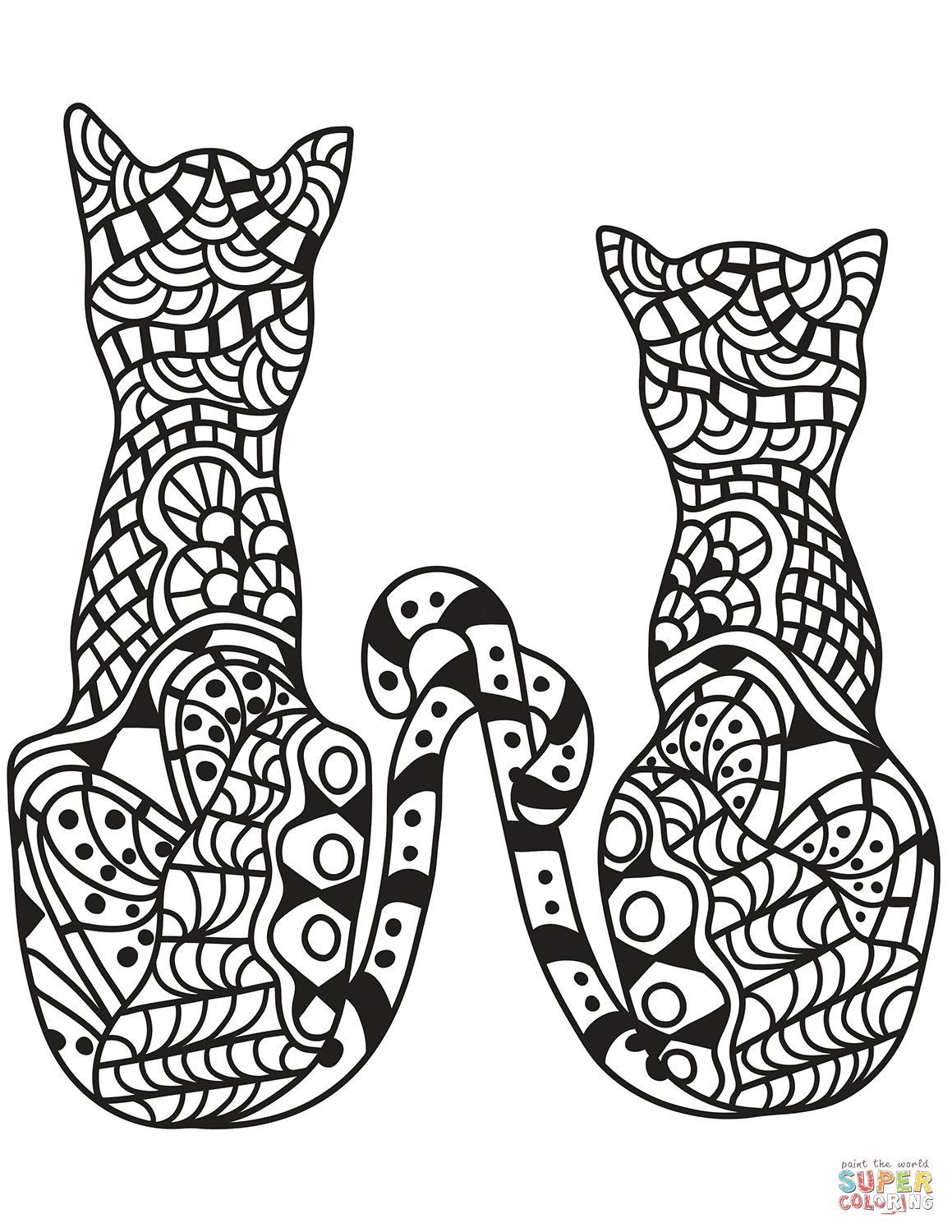 zentangle coloring games - free coloring page