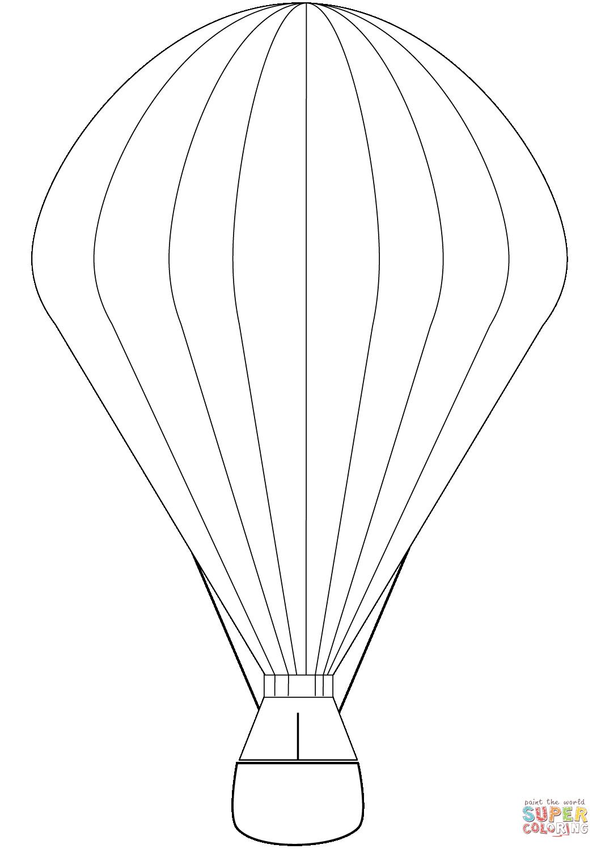 Hot Air Balloon Coloring Page