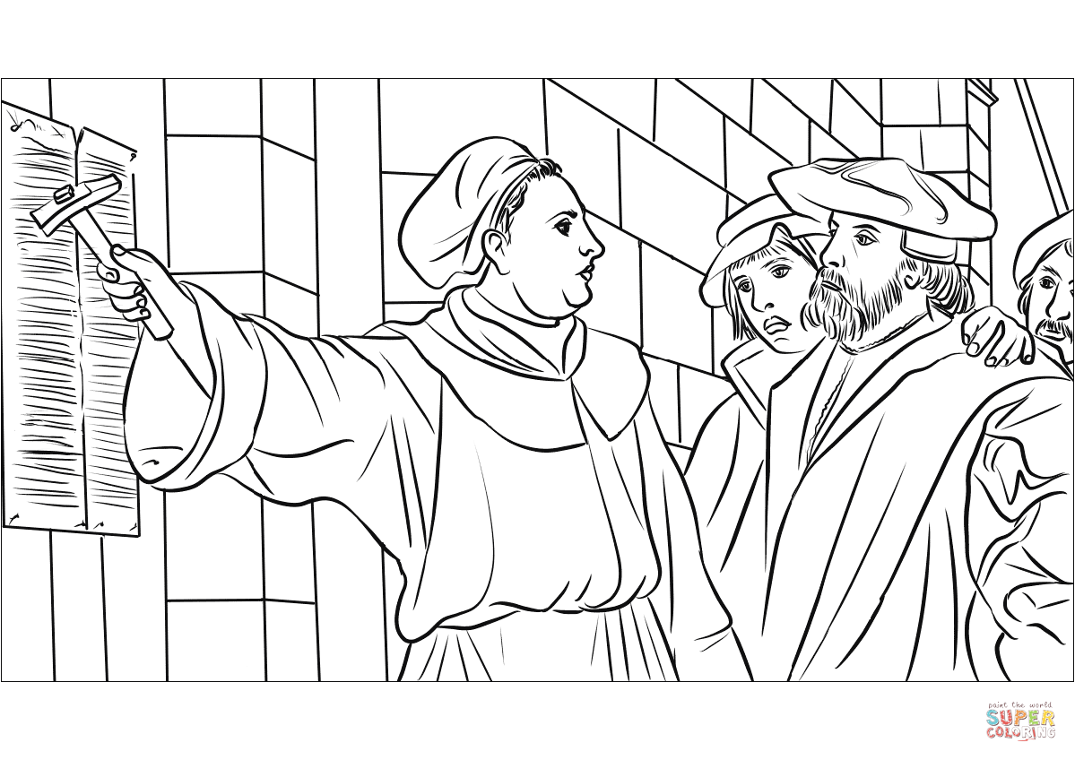 Martin Luther 95 Theses Coloring Page