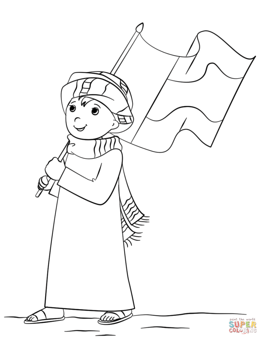uae national day coloring page  free printable coloring pages
