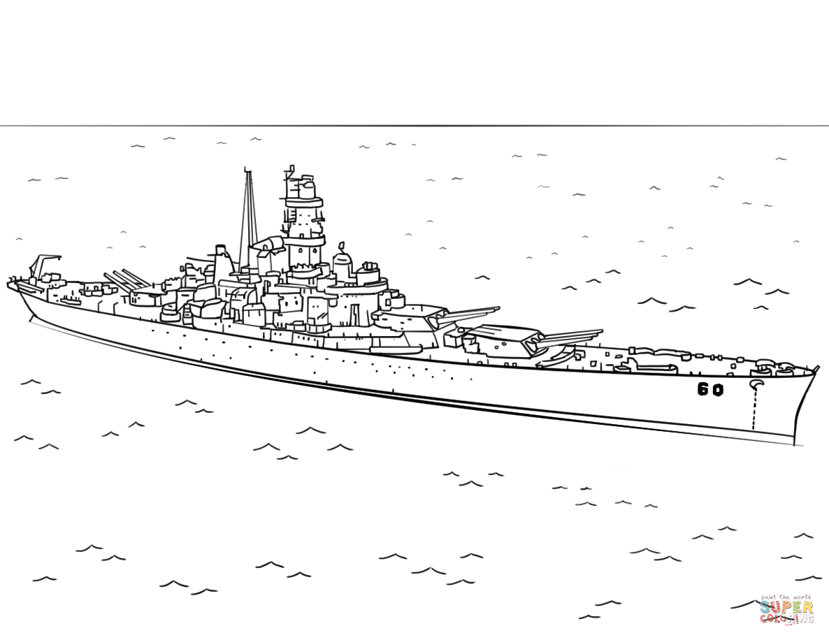 Uss Alabama Coloring Page