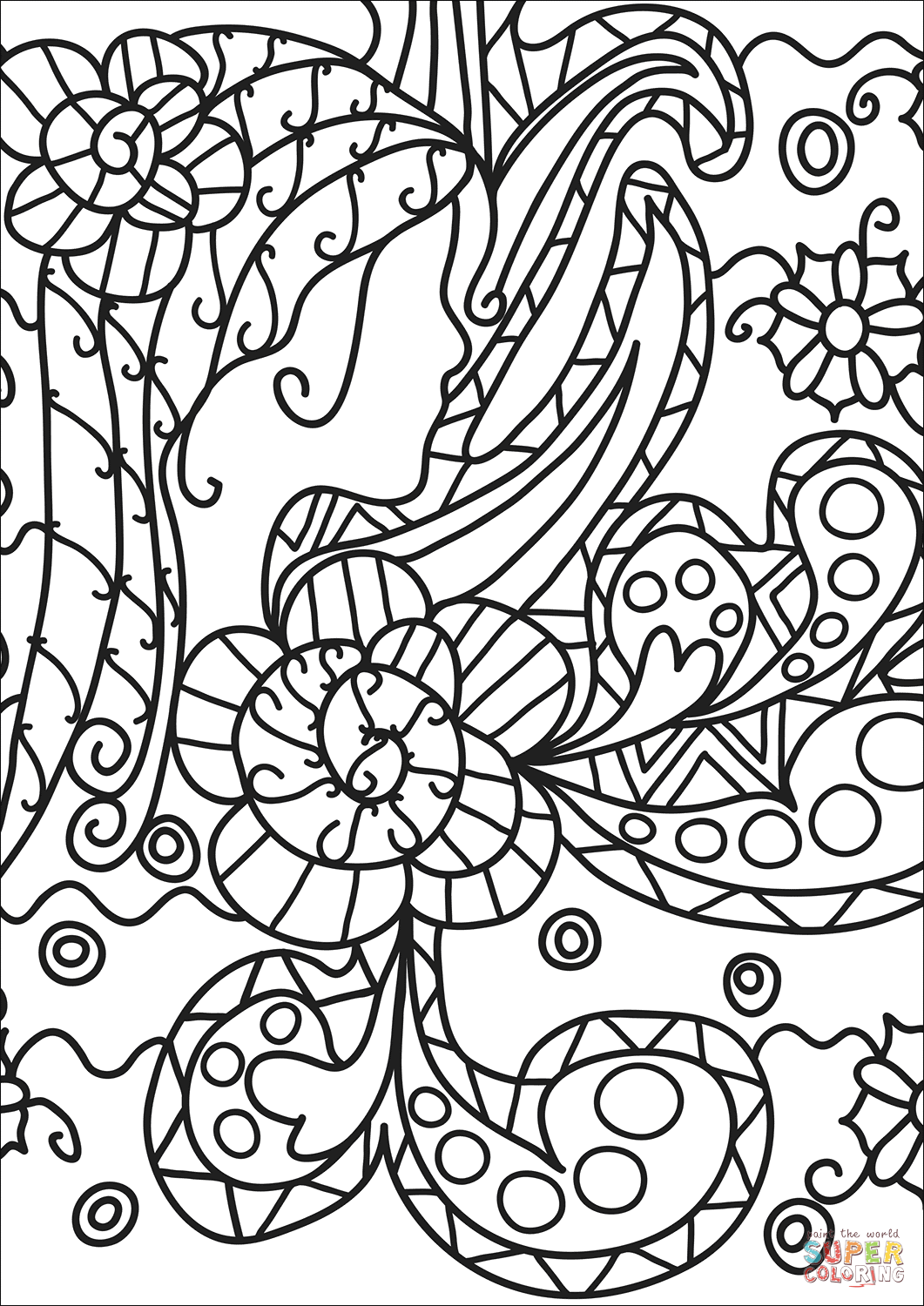 Famous Pages Artwork Coloring Print
