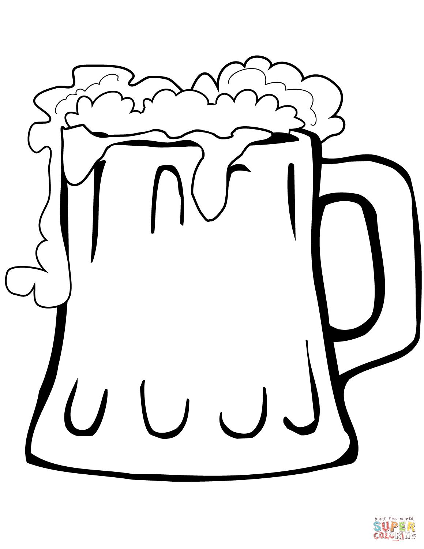 Beer Mug Coloring Page