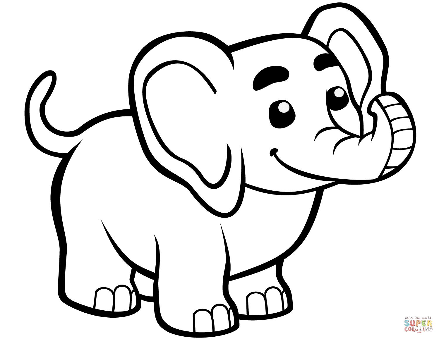 Cute Baby Elephant Coloring Pages Sketch Coloring Page