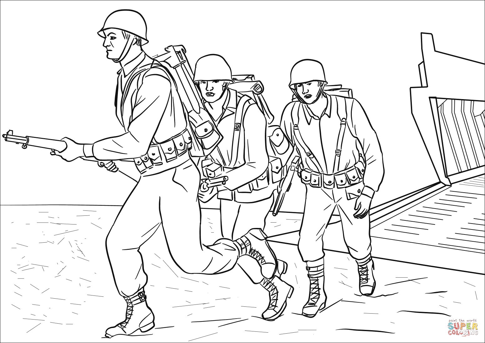 D Day Coloring Page